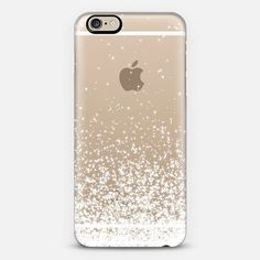 White Sparkles Transparent iPhone 6 Case by Organic Saturation | Casetify. Get $10 off using code: 53ZPEA #iphone6cases,
