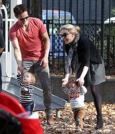 True Blood stars Anna Paquin and Stephen Moyer were all smiles as they played with their twins Charlie and Poppy on a playground in New York City's East Village.