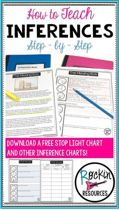 This blog post will take you through a step-by-step method to teach inference to your upper elementary students. It uses a stop light strategy. A free download of inference charts are included! They can be used with any text.