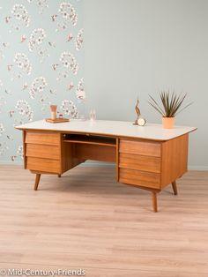 Vintage Tische - Großer Schreibtisch, 60er, 50er, Sideboard Vintage - ein Designerstück von Mid-Century-Friends bei DaWanda