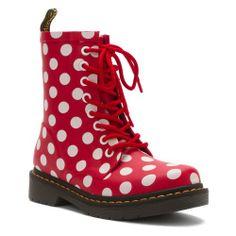 Dr Martens Drench 8-Eye Boot Red/Wht Spot Vulcanished Rubber 7 M UK (8-8.5 US Men / 9-9.5 US Women) - http://authenticboots.com/dr-martens-drench-8-eye-boot-redwht-spot-vulcanished-rubber-7-m-uk-8-8-5-us-men-9-9-5-us-women/