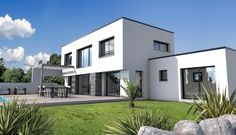 Flat roof l shaped house design pinterest flat roof for Constructeur maison moderne vendee