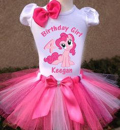 My Little Pony Pinkie Pie Tutu Outfit...... by LorisLittleLovlies
