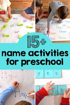 Gear up for incredible name activities for preschool! All of these simple play prompts involve recognizing letters with movement and encouraging children to be hands-on. Letter Sound Activities, Educational Activities For Kids, Spelling Activities, Indoor Activities For Kids, Preschool Activities, Listening Activities, Alphabet Activities, Fun Learning, Preschool Names
