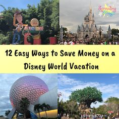 A Disney World vacation can add up quickly so you may need to cut costs! Here are twelve easy ways you can save money on your Disney World vacation Disney World Vacation, Disney Cruise Line, Disney World Resorts, Disney Vacations, Disney Trips, Disney Deals, Walt Disney, Disney Photo Pass, Disney Gift Card