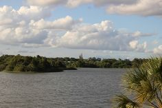 Cinderella's Castle in the Magic Kingdom ~ across Bay Lake    Walt Disney World, Florida