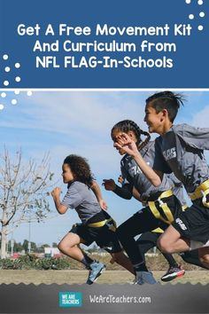 There are so many benefits to getting kids moving at school. Apply to get a free movement kit and curriculum for your school. Here's what's inside! Stem Academy, Nfl Flag, School Kit, Fast Finishers, Kids Moves, Outdoor Learning, School Programs, How To Gain Confidence, Brain Breaks