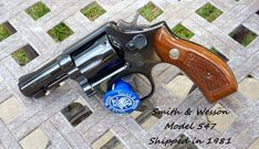 Do any of you have a Model 547 with the round grips? I sure would like to see some pics. I let one get away over a year ago as I had no idea. Smith And Wesson Revolvers, Smith N Wesson, Colt Python, 9mm Pistol, Reno Nevada, Destroyer Of Worlds, Best Friendship, Cool Guns, Pistols