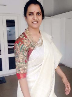 Simple Blouse Designs, Blouse Neck Designs, Blouse Styles, Pattu Saree Blouse Designs, Sari Blouse, Sari Design, Stylish Sarees, Indian Designer Outfits, Fancy Sarees