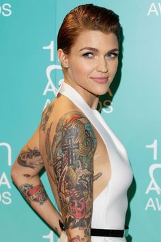 Ruby Rose from Orange is the New Black. OK so she's not from the past but she sure is beautiful!