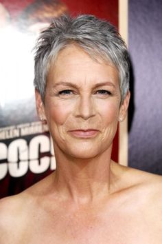 short gray hair for woman - I hope I look this good when I get her age-Love JC