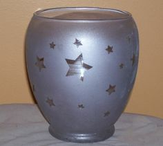 Star Struck Frosted Glass Candle Jar