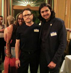 Al Conti with Grammy winning artist and producer Ricky Kej at the ZMR Music Awards Show 2015
