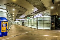 The #Metro (#Subway) station at Rondo ONZ, in #Warsaw, Poland.