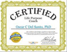 Certified Life Purpose Coach, 29/5/18