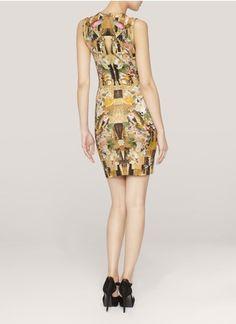 Alexander McQueen - Dragonfly floral-print jersey dress | Multi-colour Cocktail Dresses | Womenswear | Lane Crawford - Shop Designer Brands Online