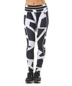 Another great find on #zulily! Black & White Elite Leggings #zulilyfinds