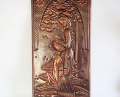 Vintage Copper Wall Decor 11 x 22.8 Handmade by GuestFromThePast