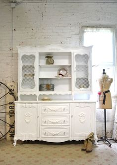 RESERVE SCOTT Painted Cottage Chic Shabby White by paintedcottages, $695.00
