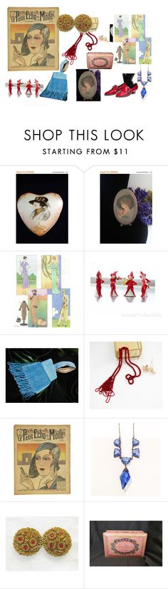 """""""Flappers On Etsy"""" by openslatecollectibles on Polyvore featuring vintage"""