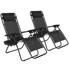 Amazon.com : Best Choice Products Zero Gravity Chairs Case Of (2) Black Lounge Patio Chairs Outdoor Yard Beach New : Patio, Lawn & Garden