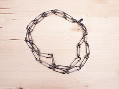 DIY idea for an edgy safety pin necklace #DIY #jewelry #punk