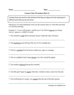 Englishlinx.com | Context Clues Worksheets | Englishlinx.com Board ...