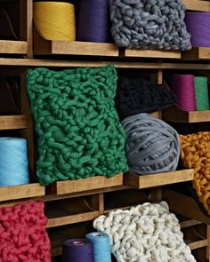 Wonder if I could make some of these! Amazing #knit textiles and interior design by Melanie Porter via @Design*Sponge