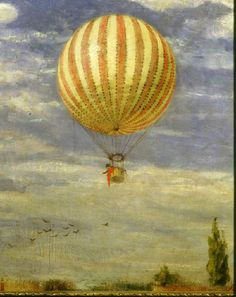 Montgolfier balloon, 1878 -- SZINYEI MERSE, Pal : 1845-1920 : Hungarian | Photo Credit: [ The Art Archive / National Gallery Budapest / Collection Dagli Orti ] MONDADORI PORTFOLIO/Picture Desk Images