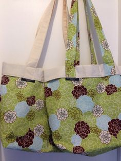 Lightweight Tote Diaper bag by WhiteWindowCreations on Etsy, $30.00
