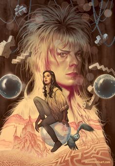 Cover art by Steve Morris for 'Jim Henson's Labyrinth: Artist Tribute' hardcover, published November 2016 by Boom! Studios.