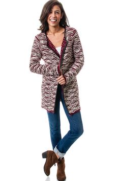 Open Front Draped Knit Cardigan