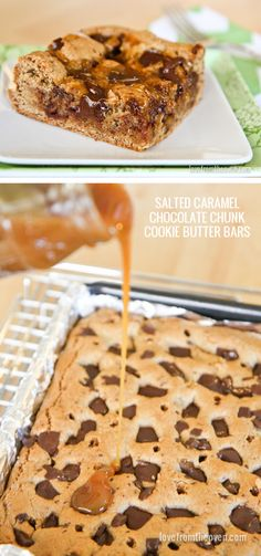 Caramel Cookie Butter Bars. Wow, a cookie bar with Biscoff, chocolate chunks and caramel? Sign me up!