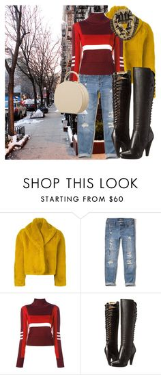 """Winter in the city!"" by denibrad ❤ liked on Polyvore featuring Jean-Paul Gaultier, Hollister Co., Emilio Pucci, Frye and Pendleton"