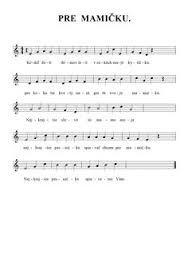 Výsledok vyhľadávania obrázkov pre dopyt detské pesničky noty