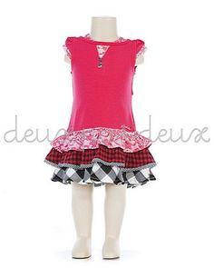 Deux Par Deux Back to Black Hot Pink Dress $32.00 from Le pink