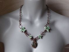 Green for August by @branchbeads  by Sarah Robertshaw on Etsy