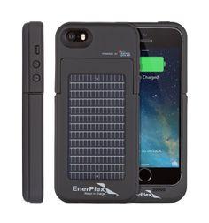 EnerPlex Surfr - Ultra leichte und hochwertig Akku & Solar-Ladehülle für iPhone 5/5S. Ultra Slim Battery Backup & Solar Powered Case For iPh...