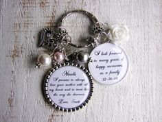 Bride's Daughter gift Keychain or Necklace by ThreeMineBlessings