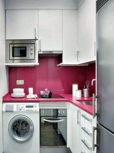 smart small kitchen design idea for apartment or small house