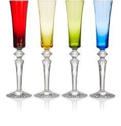 Baccarat Set Of 4 Mille Nuit Flutissimo Champagne Flutes at Barneys New York