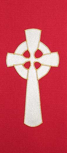 Red stole design gold Celtic cross