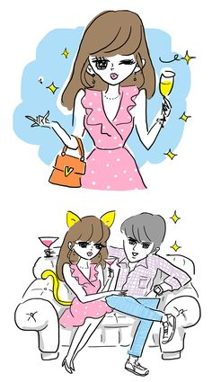 DaiGoが分析!大人の上級デート illustration by Akiko Hiramatsu Daigo, Family Guy, Lifestyle, Guys, Couples, Illustration, Fictional Characters, Couple, Illustrations