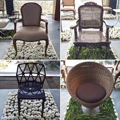 Do rústico ao moderno, algumas das cadeiras da @vivalafestamoveis, marca de móveis para #casamentos do grupo @mcheconceno! ❤️❤️❤️ #CZSaoPaulo #decoracaodecasamento