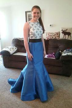 Prom dress I did alterations on April 2017.