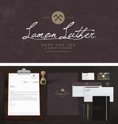 Designer Russell Shaw created the award-winning visual identity for Lamon Luther Corporate Identity Design, Visual Identity, Brand Identity, Graphic Design Trends, Web Design, Packaging Design, Branding Design, Promotional Design, Press Kit