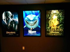 Colored Halo Movie Poster Led Light Box Display Frame