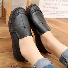 Shoes Woman Loafers Shoes Tassel Sewing Superstar Shoes Non Slip Slip-on Wear-Resistant Plus Size