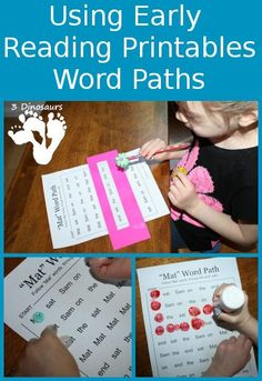 Using Early Reader Printables: Word Paths - 3Dinosaurs.com