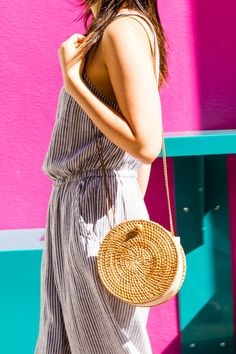 DIY That Must-Have Straw Circle Bag for $25 | Brit + Co